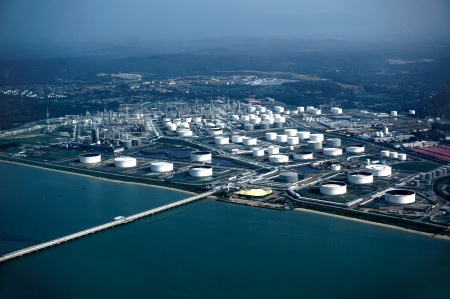 arial views: Refinery plant Editorial