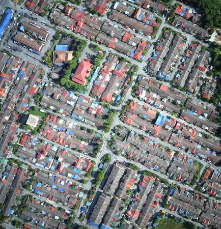 近所の空中写真をコンパクトします。