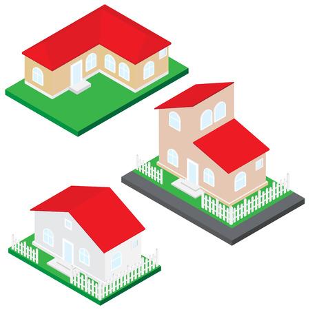 Isometric house illustration