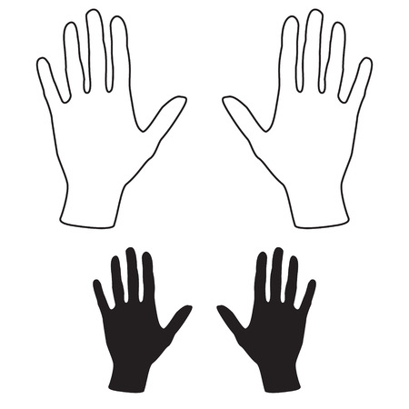 Hands illustration set Vectores