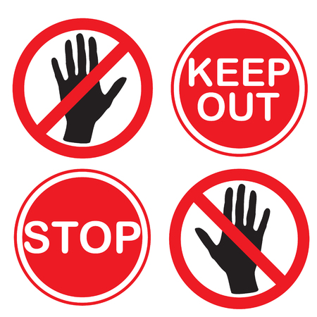 Stop and keep out sign Illustration
