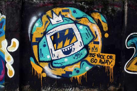 vandalism: Vandalism outdoor mural wall
