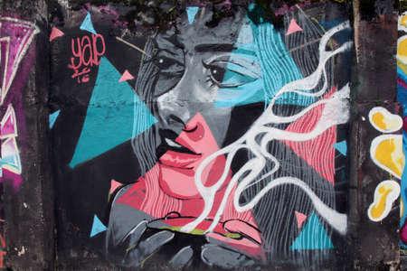vandalism: Vandalism outdoor street mural wall