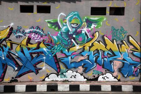 vandalism: Vandalism street mural wall Editorial