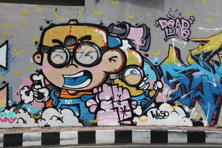 vandalism: vandalism wall outdoor mural Editorial