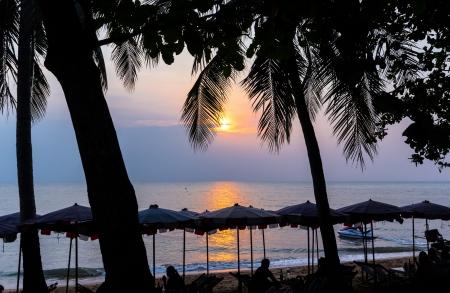 sunset on the Jomtien beach