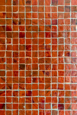 Red tiles wall