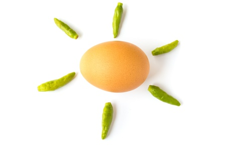 pepper and egg Stock Photo