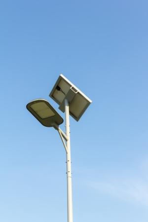 solar powered street light  Stock Photo