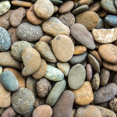 background with round stones pattern Stock Photo