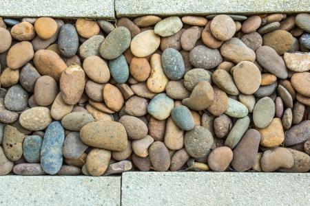 round stones with Concrete Stock Photo