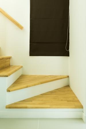 Wood stairs, interior photo