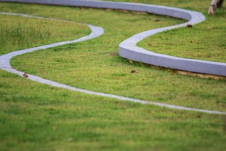 Curve way in park