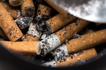 closeup Cigarette Stock Photo