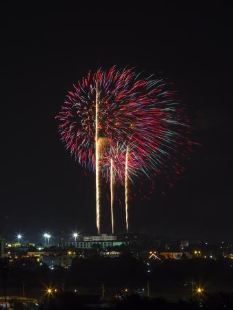 Fireworks in Prachuap Khiri Khan ,Thailand  On 21 December 2013