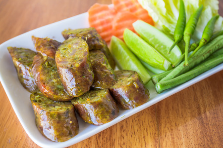 Sai Aua is name of northern Thai spicy sausage
