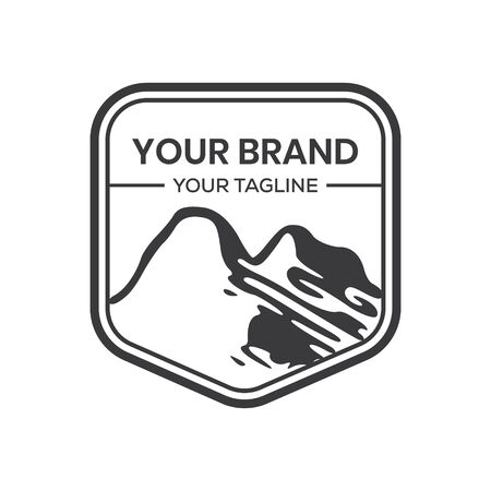 Brand Mountain Vintage Logo Vector
