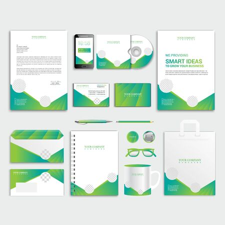 Corporate Identity Template, Business Stationery Design