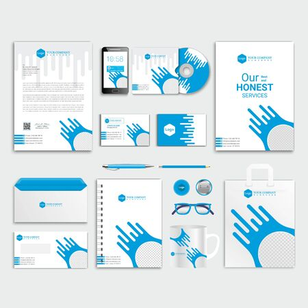 Plantilla de identidad corporativa, diseño de papelería empresarial