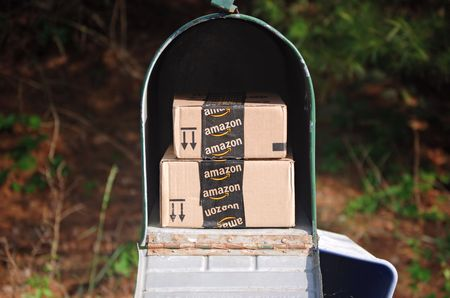 Amazon packages in a mailbox