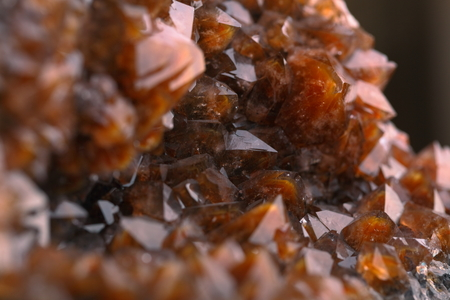 iron oxide: Quartz with iron oxide on hematite.