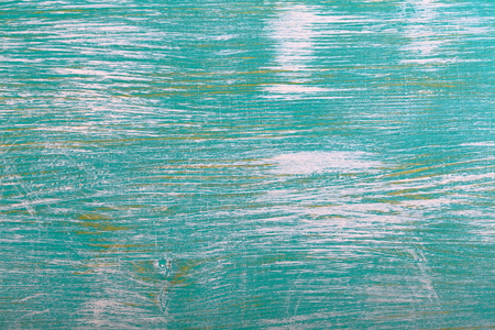 Turquoise green painted wood background texture Stock Photo