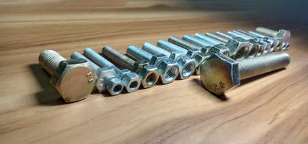 Iron Made Nut and Bolt Closeup For Sell