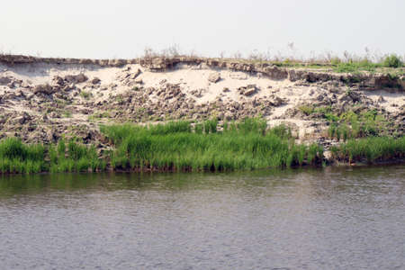 lake view with paddy firm and nature