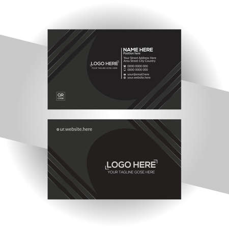 black colored vector business card design for any company use
