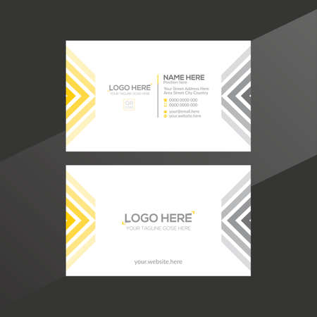 orange and gray colored vector business card design for any company use