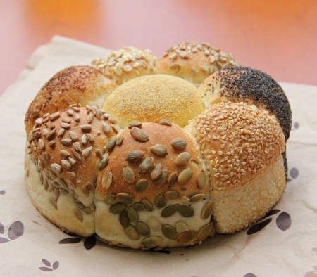 Loaf of Seeded speicality bread, different grains and seeds all in one