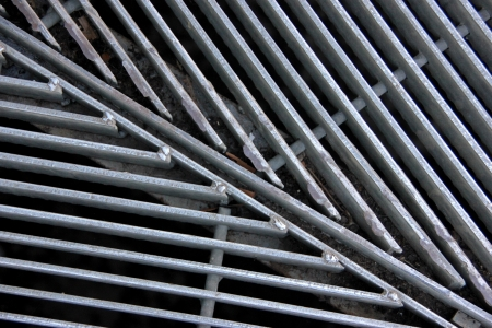 Metal Floor Grill for Water drainage system in a greenhouse