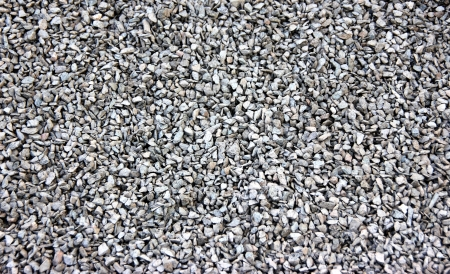 A block of small and white gravel stones