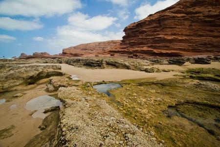deep south: Legzira beach in Morocco  Stock Photo