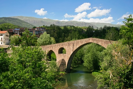 catalonia: Beautiful view of small town in Catalonia - Sant Joan De Les Abadesses