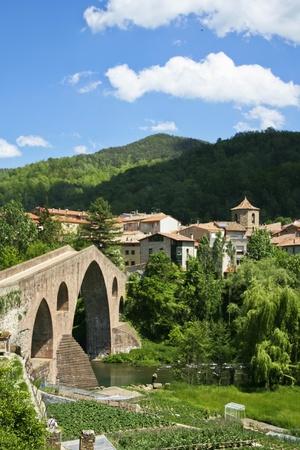 sant joan de les abadesses: Beautiful view of small town in Catalonia - Sant Joan De Les Abadesses