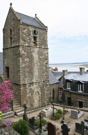 michel: Famous monastery Mont Saint Michel in Normandy, France