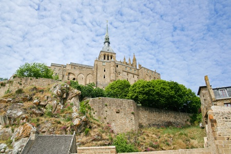 Famous monastery Mont Saint Michel in Normandy, France Stock Photo - 13092415