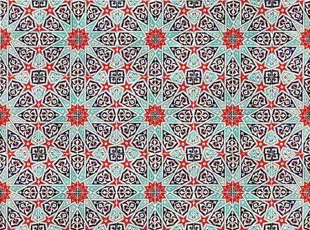 東のパターンを持つセラミック タイル 写真素材
