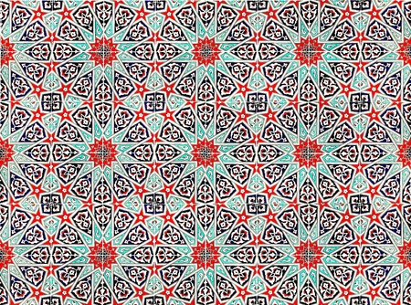 moroccan culture: ceramic tile with east pattern  Stock Photo