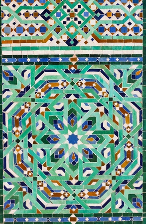 ceramic tile with east pattern  Stockfoto
