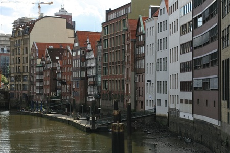 Canals in the center of Hamburg  photo