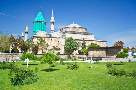 Mevlana - holy place in the center of Konya Stock Photo