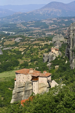 beautiful Meteora rock monastery in Greece Stock Photo - 13327925