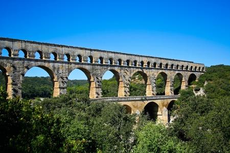 Pont du Gard - Romeinse aquaduct in Zuid-Frankrijk in de buurt Nîmes