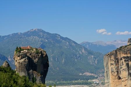 beautiful Meteora rock monastery in Greece  photo