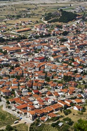 kalambaka: Bird eye view on town of Kalambaka in Greece