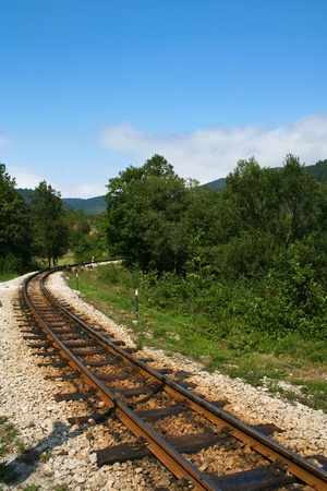 Old narrow gauge railway in Mokra Gora, Serbia photo