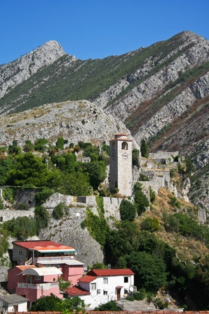 Ruins of ancient town of Bar in Montenegro   photo