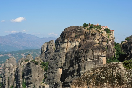 beautiful Meteora rock monastery in Greece Stock Photo - 13533307